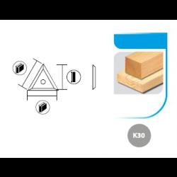 Boîte de 10 plaquettes réversibles triangulaires 22x19x2,0 3 coupes