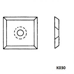 Boîte de 10 plaquettes réversibles carbure K030