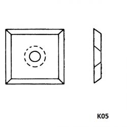 Boîte de 10 plaquettes réversibles carbure K05