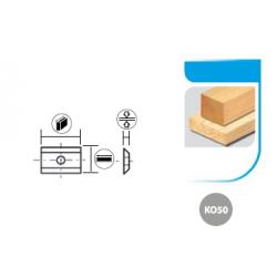 Boîte de 10 plaquettes réversibles carbure K050 2 Coupes - 45° 1 trou