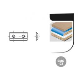 Boîte de 10 plaquettes réversibles carbure SMG-02 2 Coupes - 35° 2 trous