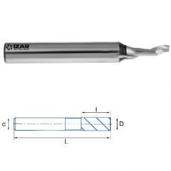 Fraise finition HSSE 5% Co 1Z Aluminium Ø 3