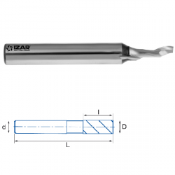 Fraise finition HSSE 5% Co 1Z Aluminium Ø 5