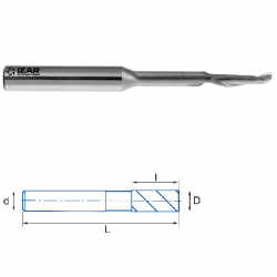 Fraise finition HSSE 5% Co 1Z Aluminium Longue Ø 8