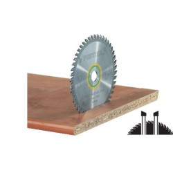Lame scie circulaire denture fine Ø 216 mm - Ep. 2.3 - Z. 48 - Al. 30 FESTOOL 491050