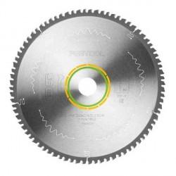Lame scie circulaire denture fine Ø 260 mm - Ep. 2.5 - Z. 80 - Al. 30 FESTOOL 494605