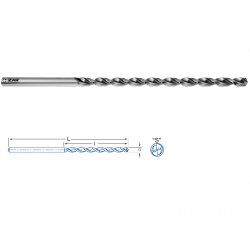 Foret Queue Cylindrique Cobalt Extra-Long Ø 5,00 x 245 mm
