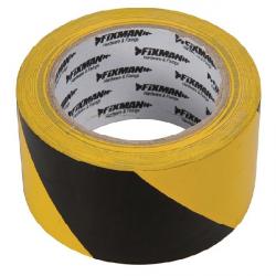 Ruban adhésif de signalisation jaune et noir 33 m x 50 mm