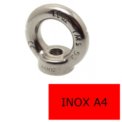 Anneau Femelle Inox A4 M Ø 8 (Prix à la pièce)