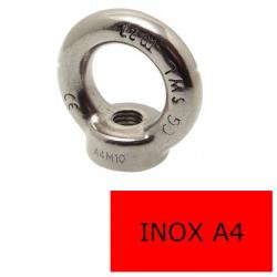 Anneau Femelle Inox A4 M Ø 12 (Prix à la pièce)
