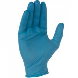 Boîte de gants nitrile bleus non poudrés