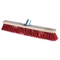 Balai de piste PVC rouge douille métallique 60 cm