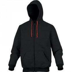 Veste sweat avec capuche CENTO Noir-Rouge