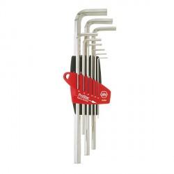 Jeu de clés mâles 6 pans creux longues, 9 pièces (1.5 à 10 mm) WIHA