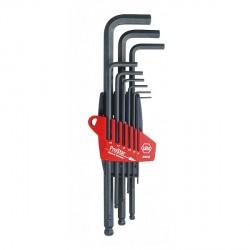 Jeu de clés mâles 6 pans creux à tête sphérique, 9 pièces (1.5 à 10 mm) WIHA