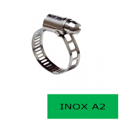 Blister 2 colliers 9 mm inox A2 16-27