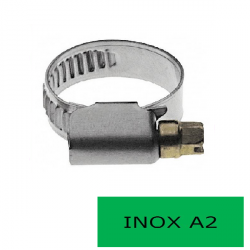 Blister 2 colliers 13 mm inox A2 32-50