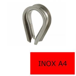Cosse coeur inox A4-316 4 mm (Prix à la pièce)