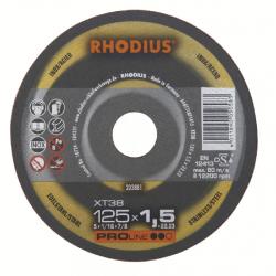 Disque à tronçonner XT 70 Ø 125 x 1.5 RHODIUS