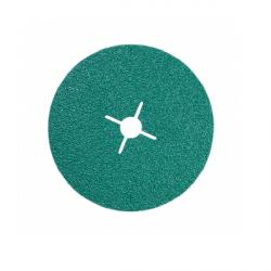 Disque fibre trou central Ø 125 mm céramique vert (Prix à la pièce)