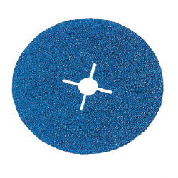 Disque fibre trou central Ø 125 mm zirconium (Prix à la pièce)