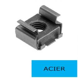 Ecrou cage M8 ép. 1.8 à 3.2 mm (Prix à l'unité)