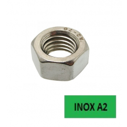 Ecrous hexagonaux Inox A2 Ø 14 BTE 100 (Prix à l'unité)