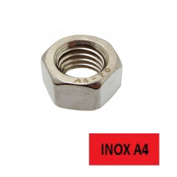 Ecrous hexagonaux Inox A4 Ø 10 BTE 100 (Prix à l'unité)