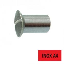 Écrous relieur TFB fendus Inox A4 4 x 12 BTE 100 (Prix à l'unité)