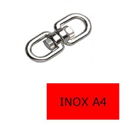 Emerillon inox A4-316 6 mm (Prix à la pièce)