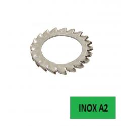 Rondelles éventail AZ DIN 6798 A (2,3x4,5x0,3) inox A2 Ø 2 BTE 500