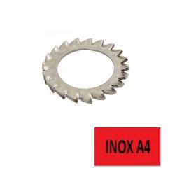 Blister 10 rondelles inox A4 EV6