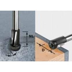 Fraise à affleurer HW avec queue de 12 mm HW D19/25 ss S12 FESTOOL 492661