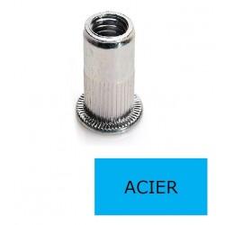 Ecrou à sertir tête plate GOFIX ACP Acier M12 x 22 BTE 100 (Prix à la boîte)