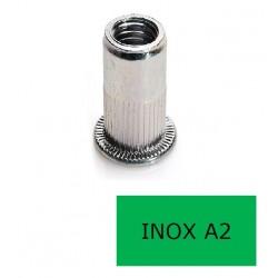 Insert tête plate GOFIX INP Inox A2 M10 x 21 BTE 100 (Prix à la boîte)