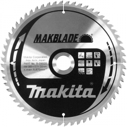 Lame scie circulaire bois  Ø 260 mm - Ep. 3.2 - Z. 40 - Al. 30 MAKITA