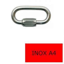 Maillon rapide inox A4-316 6 x 60 (Prix à la pièce)