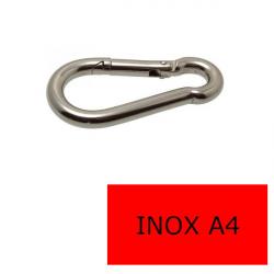 Mousqueton pompier inox A4-316 6 x 60 (Prix à la pièce)