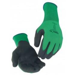 Gant PVC CFT polyamide vert sans couture NYMV15CFTN