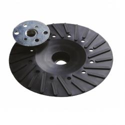 Plateau caoutchouc pour disque fibre Ø 125  M14 (Prix à la pièce)