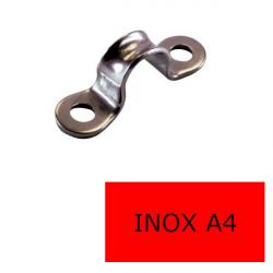 Pontet plat inox A4-316 10/11 (Prix à la pièce)