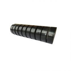 Ruban adhésif PVC noir 10 m x 15 mm (Lot de 10)