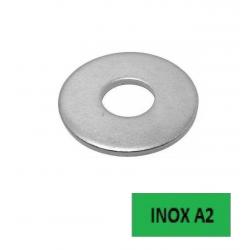 Rondelles plates Inox A2 LL Ø 4 BTE 200 (Prix à l'unité)