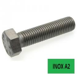 Vis TH ISO 4017 Inox A2 filetage complet 10 x 120 boîte 50 (Prix à l'unité)