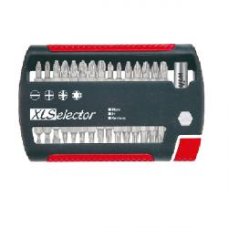 Coffret d'embouts de vissage XLSelector Standard 31 pièces.