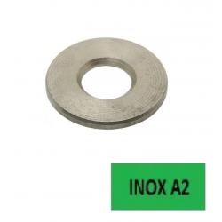 Rondelles plates NFE 25514 Série Z (10,8x20x2,0) inox A2 Ø 10 BTE 100