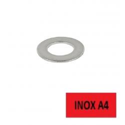 Blister 10 rondelles inox A4 M4